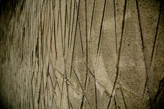 Lines scratched sand backdrop abstract. Sandy background shallow depth of field Stock Images