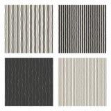 Lines seamless pattern set. Royalty Free Stock Photos
