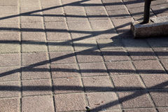 The lines and shadows on concrete Stock Photography