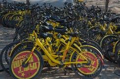 Shared rental bikes in Beijing China Stock Photo