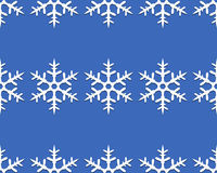 Lines of snowflakes Stock Photos