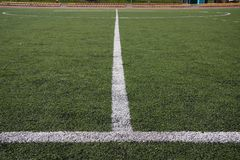 Lines on soccer field Royalty Free Stock Photography