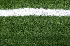 Lines on soccer field green grass Stock Photography