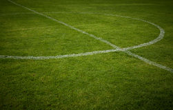 Lines on soccer field. Green grass Stock Photography