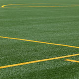 Lines on soccer pitch Royalty Free Stock Image