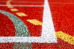 Lines of sports fields Royalty Free Stock Images