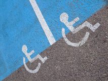 Lines and symbols  for disabled persons Royalty Free Stock Photography