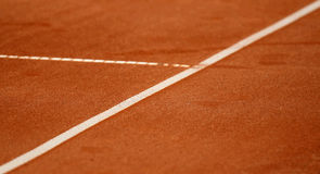Lines on the tennis court. White lines on the tennis court Royalty Free Stock Images