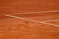 Lines on the tennis court. White lines on the tennis court Stock Images