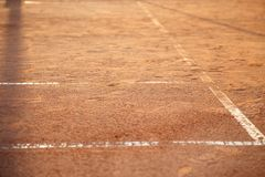 Lines on tennis court Royalty Free Stock Images