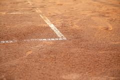 Lines on tennis court Royalty Free Stock Photos