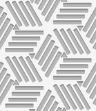 Lines and triangles on gray seamless Stock Images