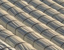 Lines of tunnel greenhouses for agriculture Stock Photos