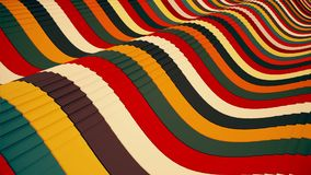 Lines in various colors with grooves undulated. In backgrounds stock footage