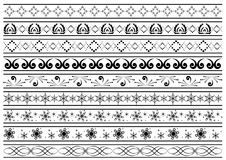 Lines with vector tracery as elements for design. Vector lines with tracery as elements for design Royalty Free Stock Image