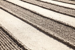 Lines In Zen Sand Garden Royalty Free Stock Photo