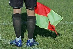 Linesman. Taken at a local soccer match Royalty Free Stock Image