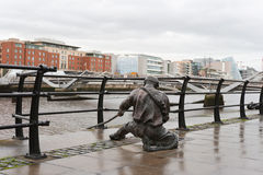 The Linesman statue. Dublin, Ireland Royalty Free Stock Photos