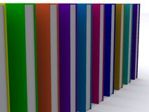 Lineup of 3d books. 3d render of a stack of nice books Stock Photo