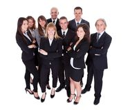 Lineup of business executives or partners Stock Photography