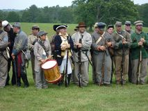 Lineup of Confederate Soldiers Royalty Free Stock Photo