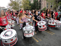 Lineup of Drummers at the Parade stock photos