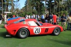 Lineup för Ferrari gtoracerbil royaltyfri foto