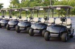 Lineup för golfvagn royaltyfria bilder