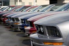 Lineup van sportwagens Royalty-vrije Stock Afbeelding