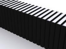 Lineup van zwarte boeken Royalty-vrije Stock Afbeelding