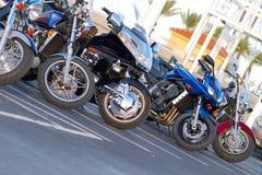 lineupmotorcykel Royaltyfri Fotografi