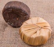 Linfa Sugar On Gunny Sack della palma IX Fotografia Stock Libera da Diritti