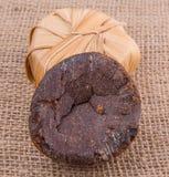 Linfa Sugar On Gunny Sack della palma VII Fotografia Stock Libera da Diritti