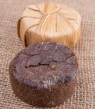 Linfa Sugar On Gunny Sack della palma XII Fotografie Stock Libere da Diritti