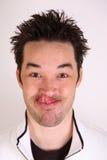 Lingüeta no nariz Fotografia de Stock