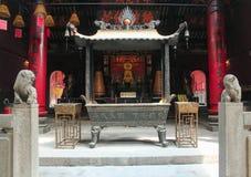Ling Fung Temple (tempel av Lotus) i Macao Arkivbilder