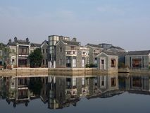 Reflection of Traditional Chinese Houses Royalty Free Stock Photo