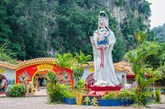 Ling Sen Tong Cave Temple, the temple located at the Gurung Rapat area and it is just beside to the main road (Jalan Gopeng). Ipoh,Malaysia - July 16,2015 Royalty Free Stock Images