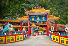 Ling Sen Tong, Temple cave, Ipoh. Ling Sen Tong is a beautiful Taoist cave temple located at the foot of a limestone hill in Ipoh, Perak Royalty Free Stock Photo