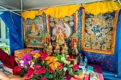 Ling Shen Ching Tze Shrine celebrating Buddhism Stock Photography