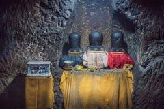 Lingam ou lingga na caverna do elefante, Goa Gajah, em Bali imagem de stock royalty free