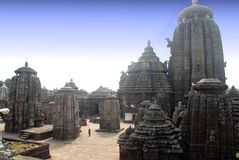 Lingaraj寺庙 免版税图库摄影