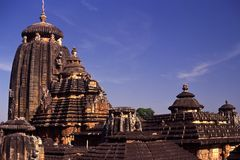 Lingaraja Temple, Bhubaneswar, India. One of the oldest temples in Bhubaneswar, the capital of East Indian state of Odisha. This temple represents the royalty free stock photo