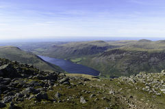 Wastwater from Scafell in The Lake District Royalty Free Stock Image