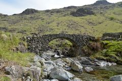 Lingcove Bridge In Eskdale, Lake District Royalty Free Stock Images