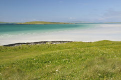 Lingeigh Island from Hornais Stock Images