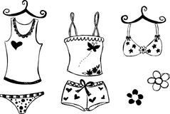 lingerie απεικόνισης Στοκ εικόνα με δικαίωμα ελεύθερης χρήσης