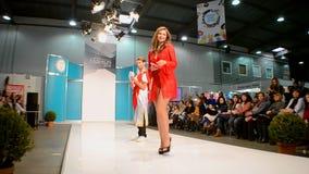 Lingerie επίδειξη μόδας από ANABEL ARTO, Κίεβο, Ουκρανία απόθεμα βίντεο