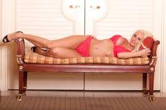 lingerie προκλητική γυναίκα Στοκ Εικόνες