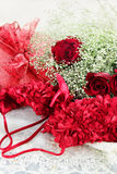 Lingerie and Beauitful Roses Royalty Free Stock Image